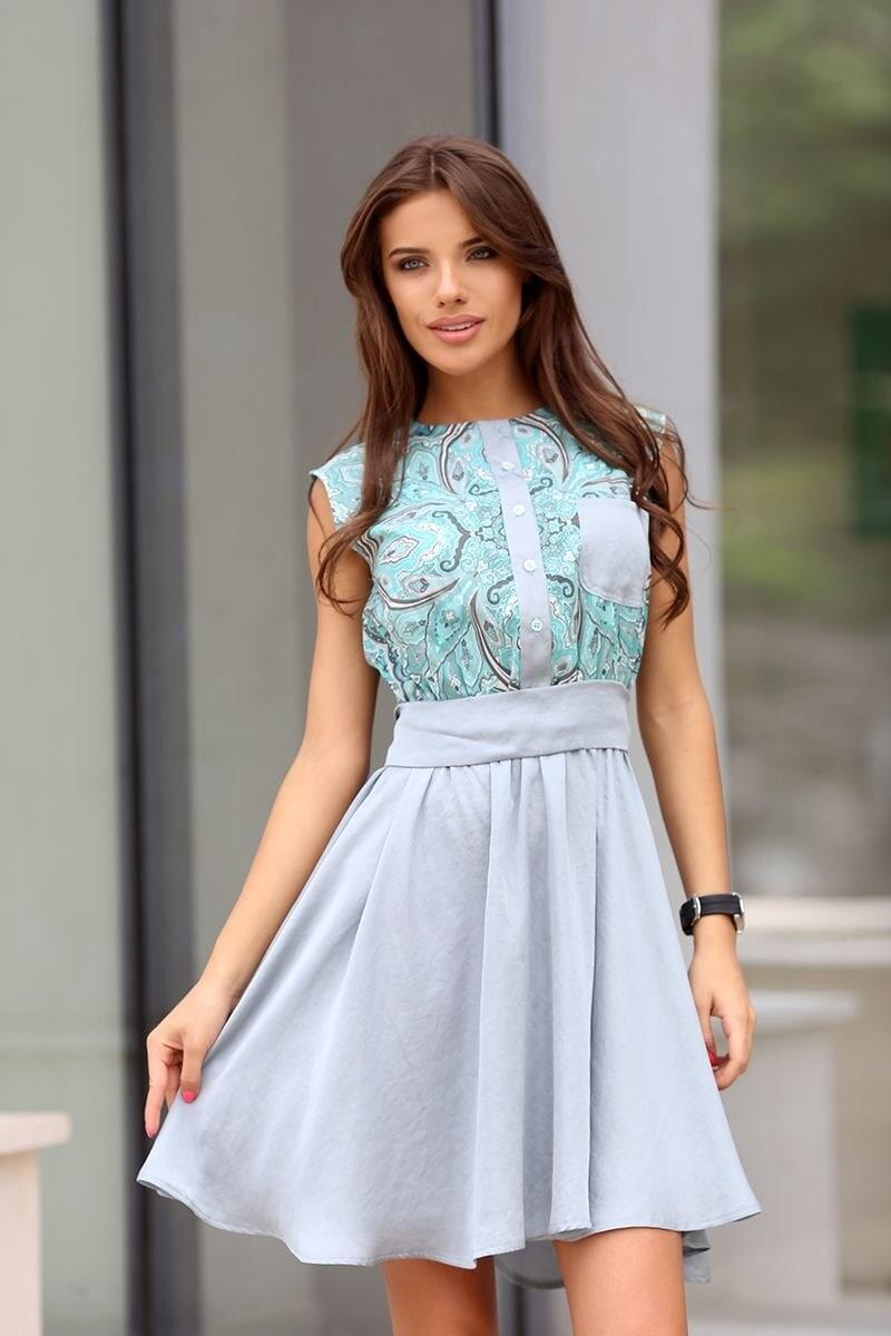 da015144026 Елегантна дамска рокля BLUE SEA • Подиум • Дамска мода онлайн