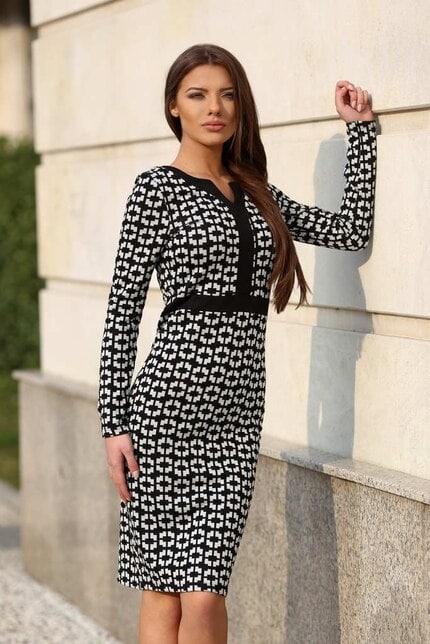 Стилна рокля в пепит ANTOANETTA