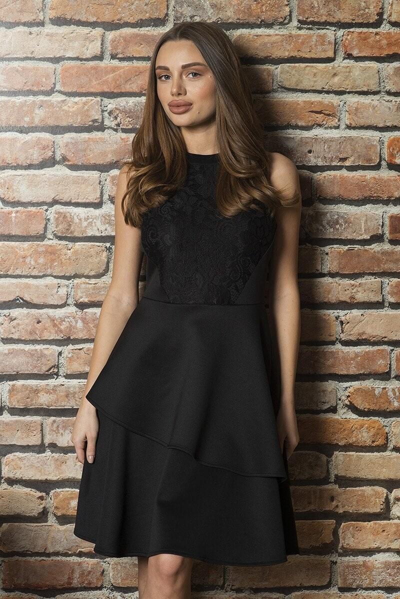 8947ce9ccb4 Стилна черна рокля с дантела Mercedes • Подиум • Дамска мода онлайн
