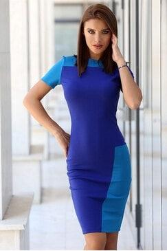 Ежедневна синя дамска рокля DREAM STORY