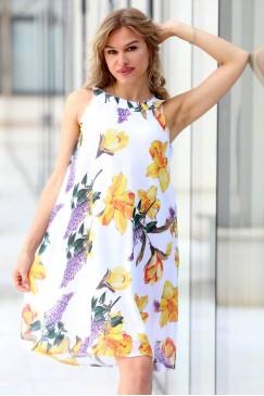 Лятна рокля с флорален принт SERINGA
