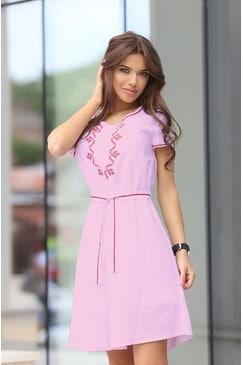 Стилна дамска рокля RADA PINK