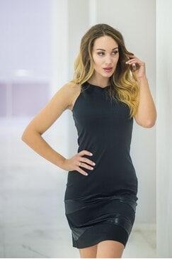 Елегантна черна вечерна рокля ROKEDS