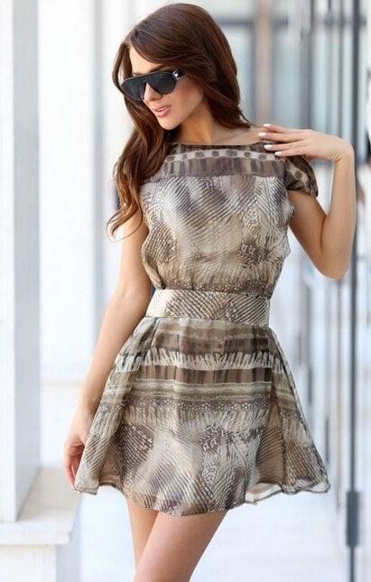 Разкроена лятна къса рокля KLEAR