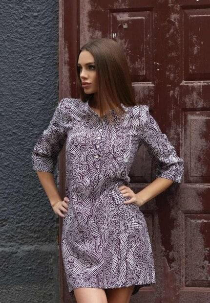 Ефектна рокля - риза DIMA