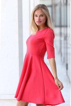 Елегантна разкроена дамска рокля VIKI