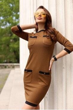 Стилна дизайнерска рокля VINTAGE