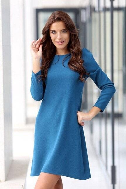 Елегантна синя рокля FENDI