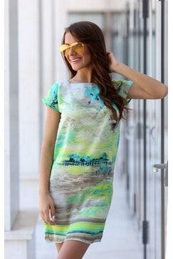 Зелена лятна рокля BEAUTY DREAM