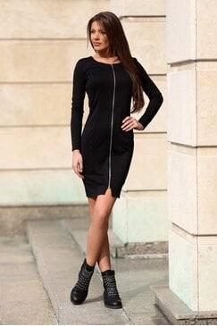 Елегантна дамска черна рокля DIORA