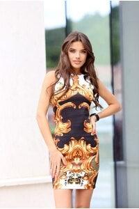 Стилна рокля с принт RITA