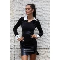 Елегантна черна рокля BLACK PODIUM