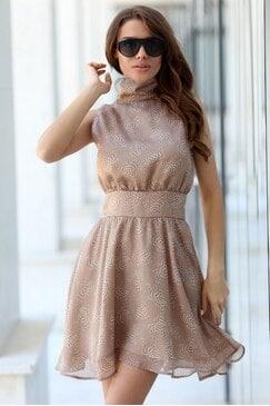 Ежедневна дамска разкроена рокля JOSEFINA