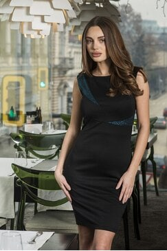 Елегантна черна рокля Nicole