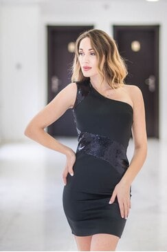 Дамска черна парти рокля KRISIYA