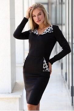 Елегантна черна дамска рокля PIA