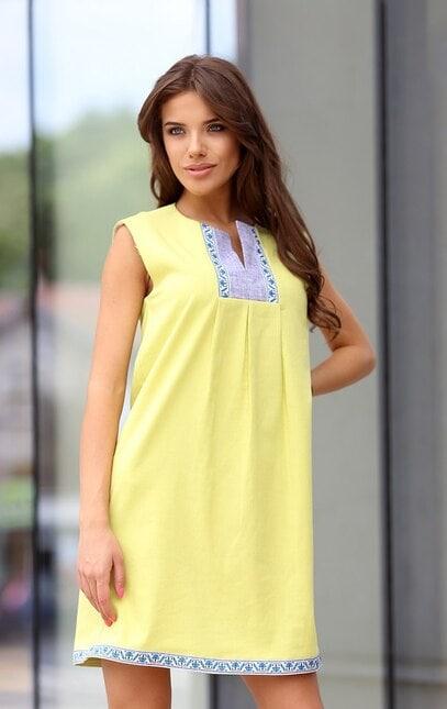 Стилна дамска рокля BORIANA YELLOW