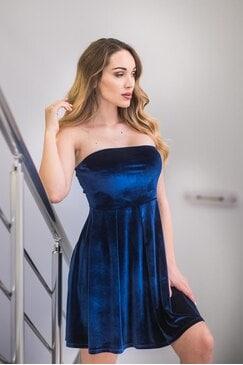 Коктейлна рокля BLUE CADIFFE