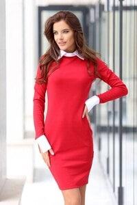 Елегантна дамска рокля ARTERY RED