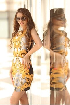 Дизайнерска дамска рокля ONIX