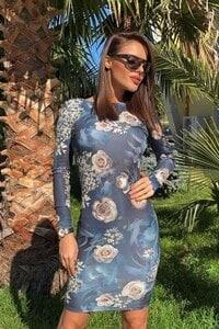 Стилна рокля с дизайнерски принт TRENDI