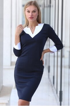 Стилна черна дамска рокля BLACK SEA