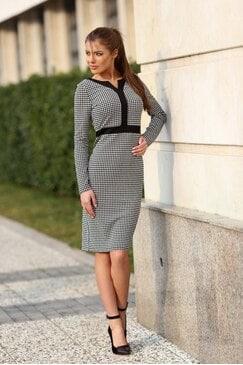 Стилна дамска рокля пепит SEDEFF