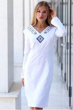 Стилна дамска рокля с бродерия MIHAELA