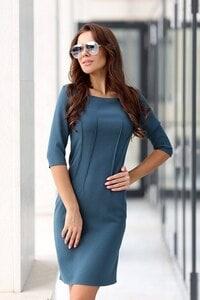 Дамска рокля с дълъг ръкав MARCHELLA BLUE