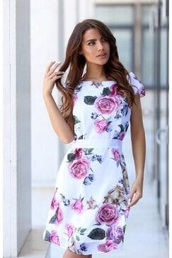 Секси лятна рокля с рози BALI