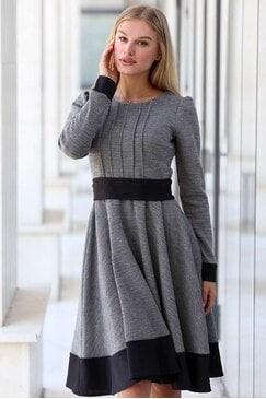 Ежедневна дамска сива рокля RIVERT