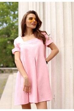 Лятна ленена розова рокля ASILHOUETTE