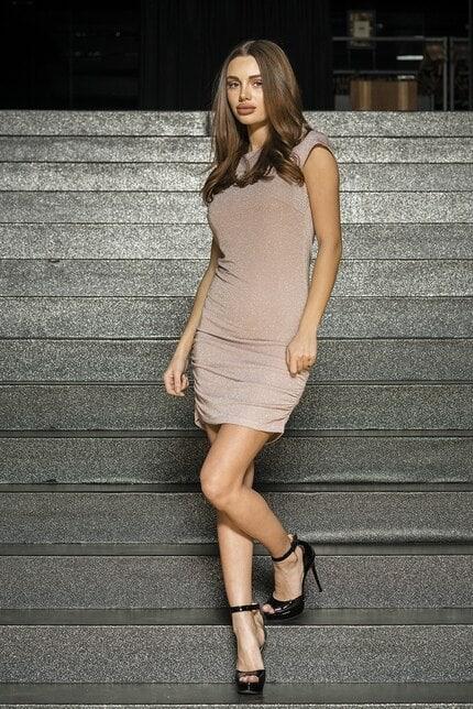 Къса дамска парти рокля Olga