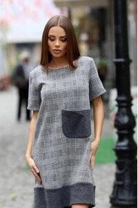 Ефектна рокля с джоб SAFISA