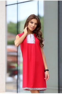 Стилна дамска рокля BORIANA RED