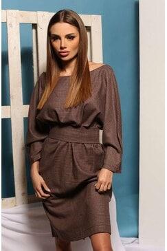 Елегантна кафява рокля TIAMO BROWN