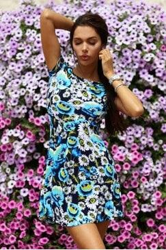 Стилна рокля COLORI BLUE