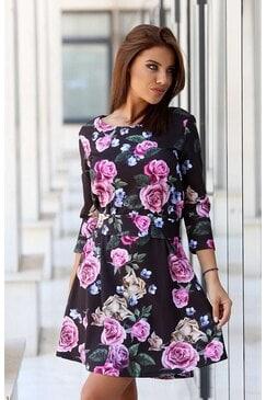 Ежедневна рокля с дизайнерски принт PURPLE RAIN