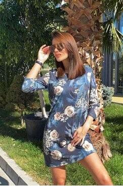 Ежедневна рокля с дизайнерски принт TRENDI LUX