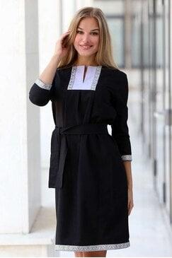 Стилна рокля с шевица IVANA LUX