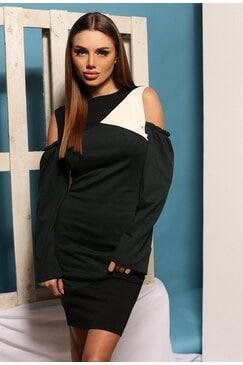 Стилна черна рокля ANTONIA