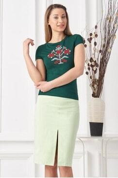 Стилна дамска зелена пола JENIE
