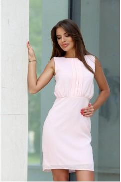 Елегантна дамска розова рокля MARY ANNA