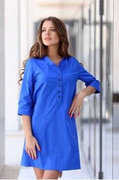 Стилна синя дамска рокля MALVINA