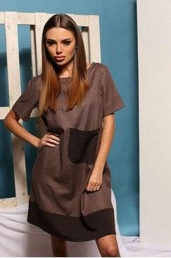 Стилна кафява рокля SAFISA BROWN