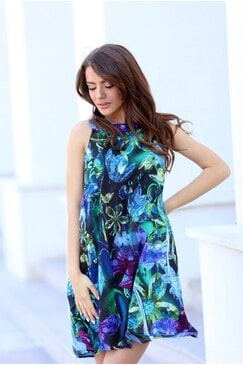 Дамска ежедневна рокля с принт AMELIYA