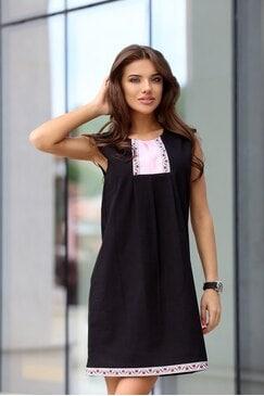 Стилна дамска рокля BORIANA BLACK