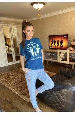 Стилна дамска тениска NICLKY BLUE