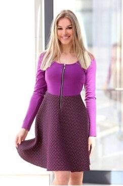 Елегантна дамска рокля MARAYA VIOLET