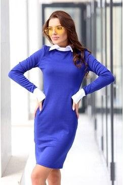Стилна дамска рокля ARTERY BLUE